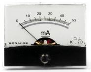 Monacor PM-2/50MA Einbaumessinstrument