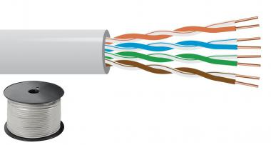 100 Meter Rolle, Cat-5- Kabel Monacor CAT-5100UTP