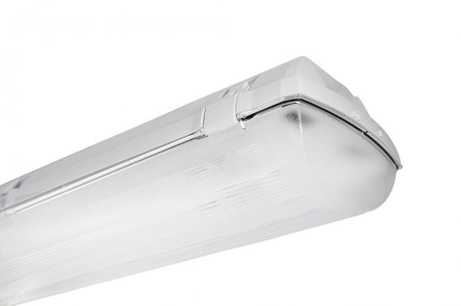 Bioledex DOLTA-VVG Feuchtraumleuchte 2-fach für 18W Leuchtstoffröhre o. 60cm LED Röhre