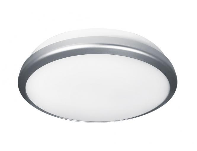 Bioledex WADO LED Wand-Deckenleuchte 30W 30cm IP65 wasserfest Warmweiss Silber