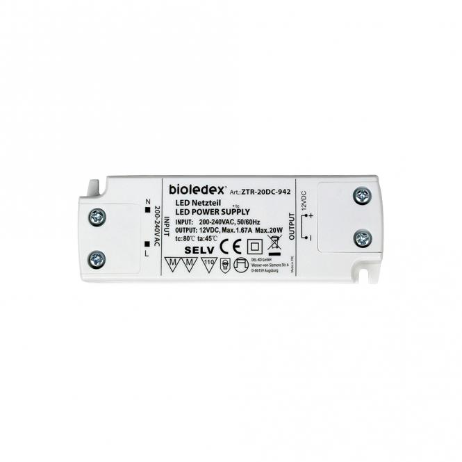 Bioledex 20W 12V DC LED Trafo Gleichspannungs-Netzgerät