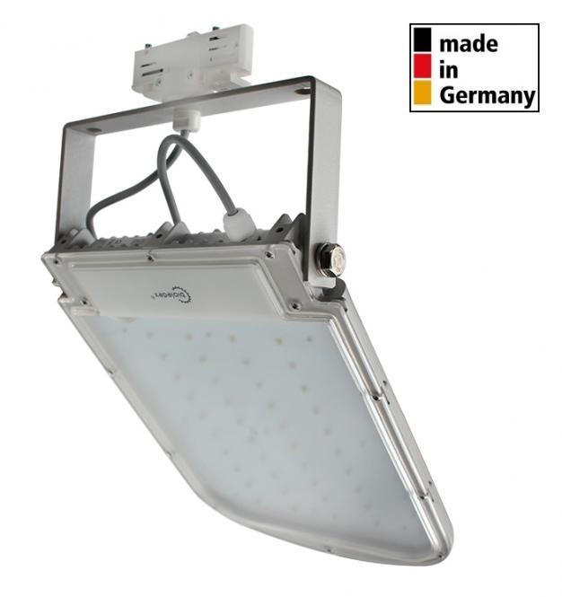 Bioledex 3-Phasen LED Strahler ASTIR 70W 6000Lm 70° 5200K Grau