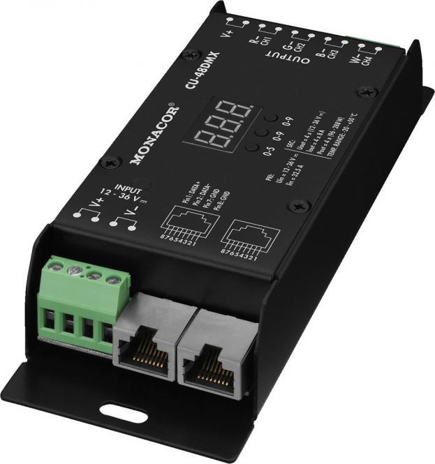 Monacor CU-48DMX 4-Kanal-RGBW-LED-DMX-Controller