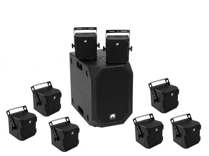 Omnitronic Set BOB-10A sw + 8x BOB-4 sw