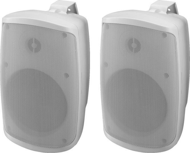 Aktiv-Boxen-Set Monacor WALL-05SET/WS