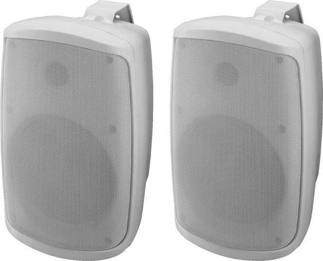 Aktiv-Boxen-Set Monacor WALL-06SET/WS