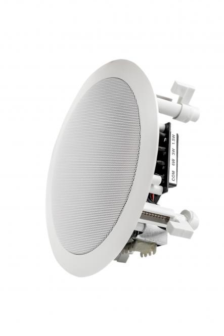 "FOX 5"" Koaxial Deckenlautsprecher FXCS-5136CX 1,5 / 3 / 6 Watt 100 Volt Kunststoff weiß"